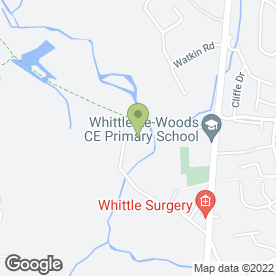 Map of Woodfit Ltd in Whittle-le-Woods, Chorley, lancashire