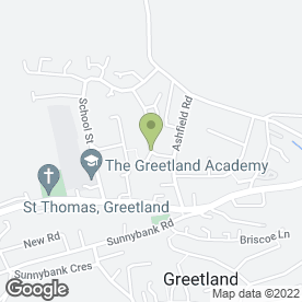 Map of Man With Blue Van in Greetland, Halifax, west yorkshire