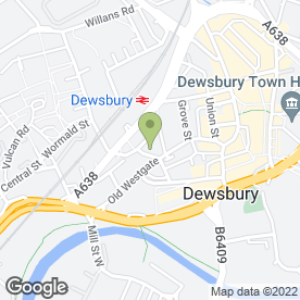 Map of Harford's Security Ltd in Dewsbury, west yorkshire