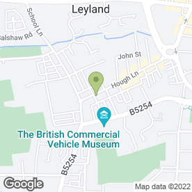 Map of Lloyds TSB Bank plc in Leyland, lancashire
