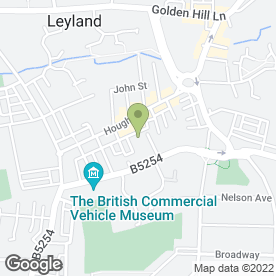 Map of James Hargreaves Plumbers Merchants Ltd in Leyland, lancashire