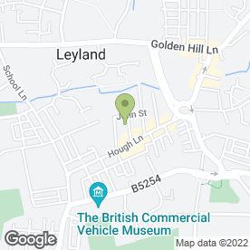 Map of SOVEREIGN BLINDS in Leyland, lancashire