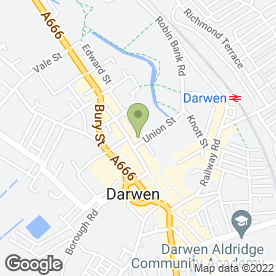 Map of Darwenside Dental Practice in Darwen, lancashire