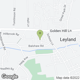 Map of Leyland Car Hire in Leyland, lancashire