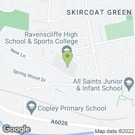Map of Ravenscliffe High School in Halifax, west yorkshire