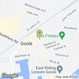 Map of Greggs in Goole, north humberside