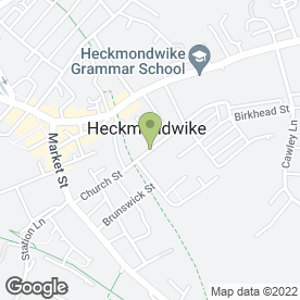 Map of Garlands Residential Care Home Ltd in Heckmondwike, west yorkshire