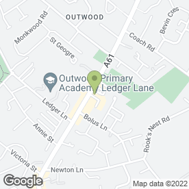 Map of Outwood Cars in Wakefield, west yorkshire