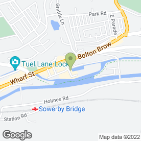 Map of Image Warehouse Hair & Beauty Salon in Sowerby Bridge, west yorkshire