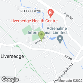 Map of Yorkshire Bathroom & Heating Solutions in Liversedge, west yorkshire