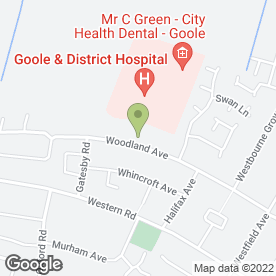 Map of Goole CHCP Dental Services in Goole, north humberside