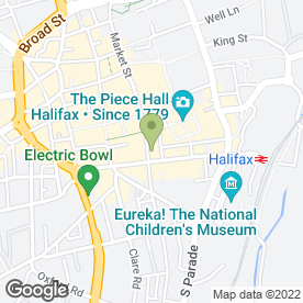 Map of Classic Curtains & Blinds in Halifax, west yorkshire
