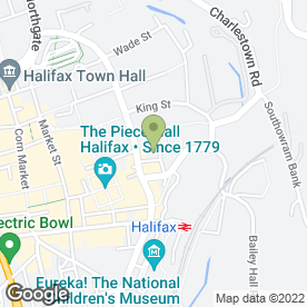 Map of Charlie Browns Autocentres in Halifax, west yorkshire
