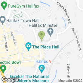 Map of Blockbuster Entertainment in Halifax, west yorkshire