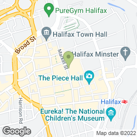 Map of Greggs in Halifax, west yorkshire
