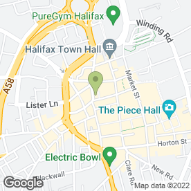 Map of Royal Bank of Scotland in Halifax, west yorkshire