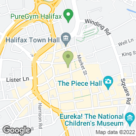Map of The Clarks Shop in Halifax, west yorkshire