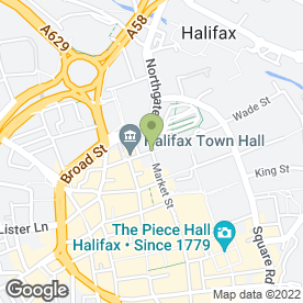 Map of NHS Trust at Broad Street Plaza in Halifax