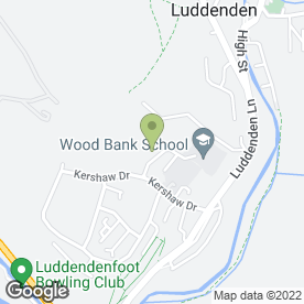 Map of Wood Bank School in Luddendenfoot, Halifax, west yorkshire