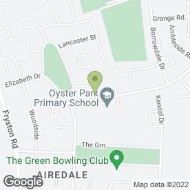 Map of Oyster Park Infant School in Castleford, west yorkshire