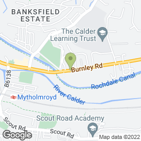 Map of Customised Sewing Services in Mytholmroyd, Hebden Bridge, west yorkshire
