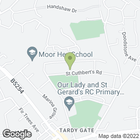 Map of Hardacre Quality Carpets in Preston, lancashire