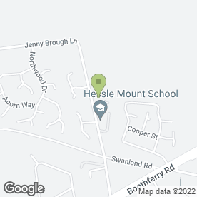 Map of Hessle Mount School in Hessle, north humberside