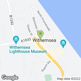Map of East Yorkshire Motor Services Ltd in Withernsea, north humberside