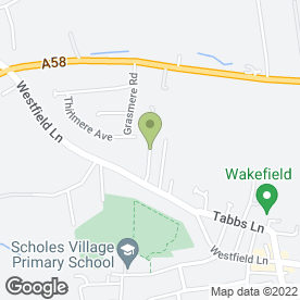 Map of Dom's Driving School in Scholes, Cleckheaton, west yorkshire