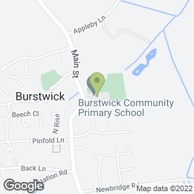 Map of Burstwick Community Primary School in Burstwick, Hull, north humberside