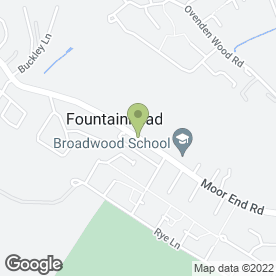 Map of Broadwood School in Halifax, west yorkshire
