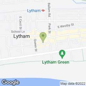 Map of LYTHAM POSY BOWL in Lytham St. Annes, lancashire