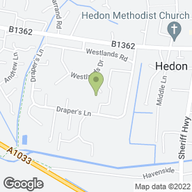 Map of Lindsay Parkin in Hedon, Hull, north humberside