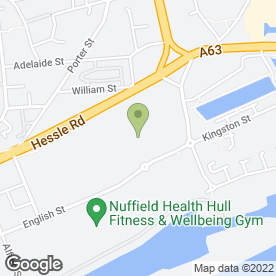 Map of Odeon Cinema in Hull, north humberside