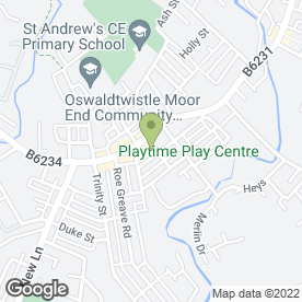Map of PET WAREHOUSE in Oswaldtwistle, Accrington, lancashire