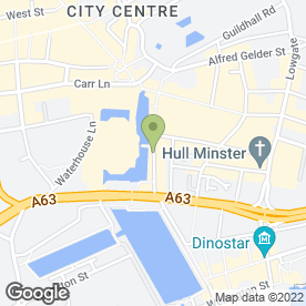 Map of mkone in Hull, north humberside
