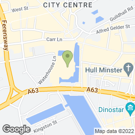 Map of Vue Cinema in Hull, north humberside