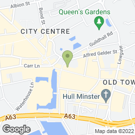 Map of Orange in Hull, north humberside