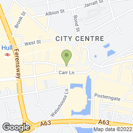 Map of GOUGH & DAVY in Hull, north humberside