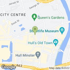Map of Andrew Jackson in Hull, north humberside