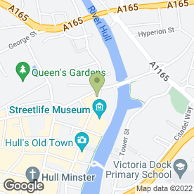 Map of Rileys Sports Bar in Hull, north humberside