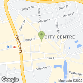 Map of Specsavers Hearing Centres in Hull, north humberside