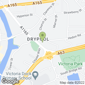Map of Drypool Mot & Repair Centre in Hull, north humberside