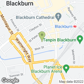 Map of Class Motors in Blackburn, lancashire