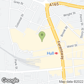 Map of Greggs in Hull, north humberside