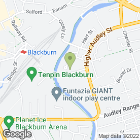 Map of Eanam Car Sales in Blackburn, lancashire