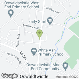 Map of Spar Supermarket in Oswaldtwistle, Accrington, lancashire