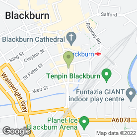 Map of Brook Blackburn in Blackburn, lancashire
