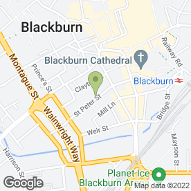 Map of Carlines in Blackburn, lancashire