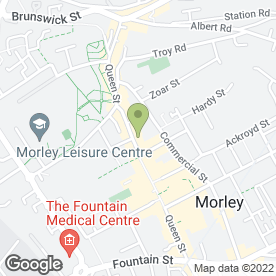 Map of Soak Spa in Morley, Leeds, west yorkshire